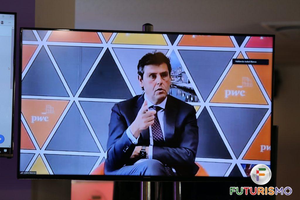 Cayetano Soler en pantalla siendo entevistado telemáticamente